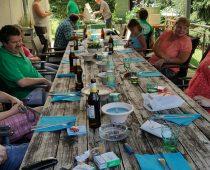 Juliwanderung und Pizza bei Hinsbergers 10.07.16